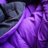 Purple/Black Reversible College Comforter - Twin XL Extra Long Twin College Comforter Dorm Items List Needed Supplies College Students