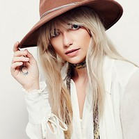 Free People Womens Tanner Chain Band Hat