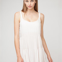 Sleeveless Backless Tiered Accent Pleated Mini Dress