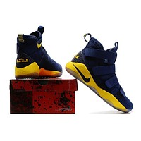 Nike LeBron Soldier 11 Navy/Yellow Basketball