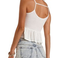 Strappy Ruffle Tank Top by Charlotte Russe