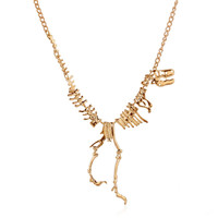 Dinosaur Skeletons Necklace Punk Gothic Alloy Exaggerated Tyrannosaurus T-Rex