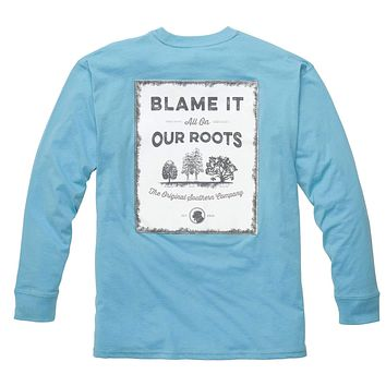 Our Roots Long Sleeve Tee in Retro Blue by Southern Proper