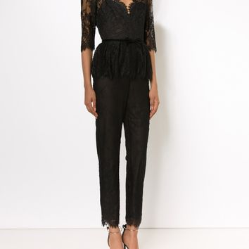 Belted Lace Jumpsuit | Marissa Collections
