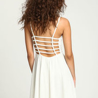 White Breezy Lace Slip Dress