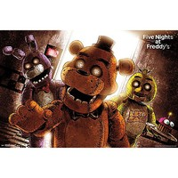 Group Attack Five Nights At Freddy's Poster - Spencer's