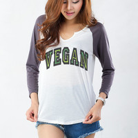 Vegan T Shirt for Women Funny TShirt Sweatshirt Tumblr Baseball Tee Raglan Shirt Fresh Teen Dope Womens Girls Swag Hipster Cute Sassy Blog
