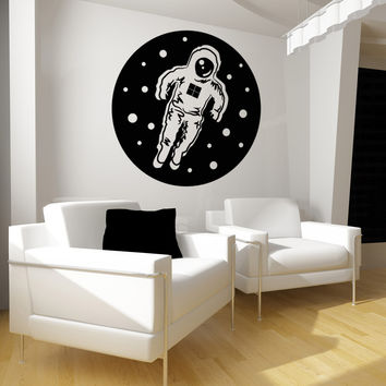 Vinyl Wall Decal Sticker Astronaut Floating in Space #OS_MB105