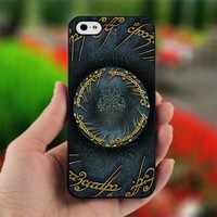 Lord Of The Rings tree Logo - Design for iPhone 4/4S Black Case