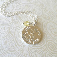 You Are My Sunshine Silver Necklace-Gift for Daughter, Gift for Girlfriend, Gift fro Niece, Gift for God Daughter