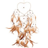 Handmade Dream Catcher with Feather Bead