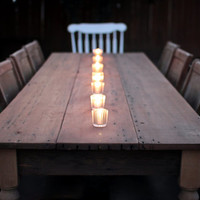 Rustic Reclaimed Wood Traditional Farmhouse Dining Table & Desk