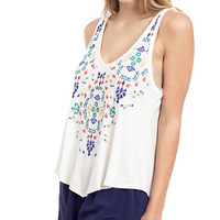 Mexicali Embroidered Front Swing Tank