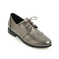 Round Toe Women Low Heels Loafers Shoes MF5450