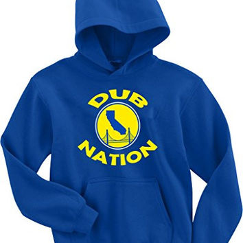 "Golden State Warriors ""Dub Nation"" Hooded Sweatshirt ADULT LARGE"