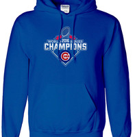 Chicago Cubs 2016 World Series Champions Hoodie Hooded Sweatshirt