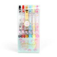 Little Twin Stars 6 pc Ballpoint Pen Set: Bed Time
