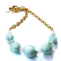 Sea Shells Necklace (turquoise)
