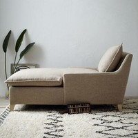 Bliss Down-Filled Chaise – Burlap