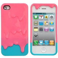 Amazon.com: Detachable 3D Melting Ice-cream Hard Protective Back Case Cover Set for iPhone 4 /iPhone 4S: Cell Phones & Accessories