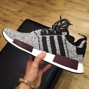 Tagre ADIDAS Women Running Sport Casual Shoes NMD Sneakers GREY