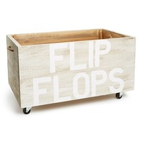 Face to Face 'Flip Flops' Reclaimed Wood Crate - White