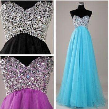 New Beaded Cocktail Formal Bridesmaid Dresses Prom Ball Long Evening Party Gown