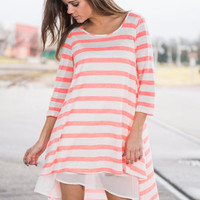 Seeing Is Believing Dress, Neon Coral