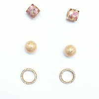 Shine All Day Earring Stud Set