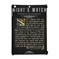 Game Of Thrones Nights Watch iPad Air Case