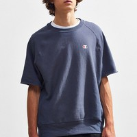 Champion Reverse Weave Short Sleeve Crew Neck Sweatshirt | Urban Outfitters