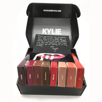 16pcs=8 set kylie jenner liquid lipsticks Lip kit & Lipliner Kylie lip gloss liquid lipstick matte+black box+Card