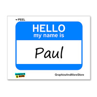 Paul Hello My Name Is Sticker