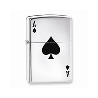 Zippo Lucky Ace High Polish Chrome Lighter