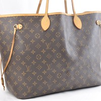 Authentic Louis Vuitton Monogram Neverfull GM Tote Bag LV 43178