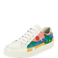 Prada Scenic Mexico Leather Low-Top Sneaker