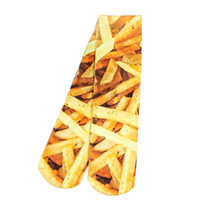 All Over Print French Fries Print Socks Long Casual Skateboard Sport Socks Men Women Food Design Socks Street Rock Style