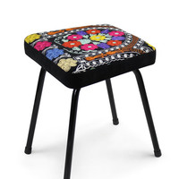 Vintage unique patchwork design chair Xavi