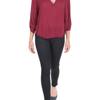 V-Shaped Top in Red-FINAL SALE