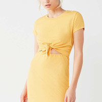 UO Tie-Front T-Shirt Dress   Urban Outfitters