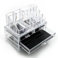Makeup Organizer Luxury Cosmetics Acrylic Clear Case Storage Insert Holder Box with Draws