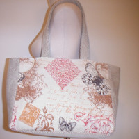 Butterfly Medium Size Shopper Tote Bag
