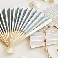 Personalized Paper Fans