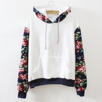 Floral Hoodie from tokyodolls