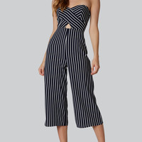 Count The Stripes Tube Jumpsuit