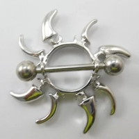 New Charming Dangle Crystal Navel Belly Ring Bling Barbell Button Ring Piercing Body Jewelry = 4804859588
