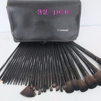 MAC Makeup Sets Brand Brushes Set 32 Pcs Black Professional Cosmetics Brush Kits Make Up Tools
