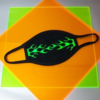 Neon 90s Flame Mask