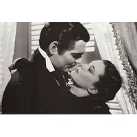 Gone with the Wind Kiss Poster 24x36