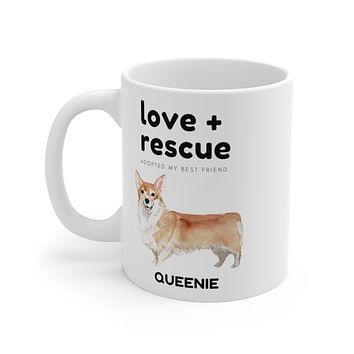 love + rescue Mug — Corgi